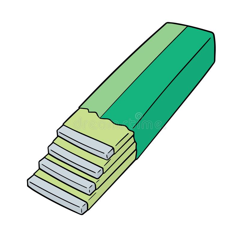 Vector van kauwgom vector illustratie