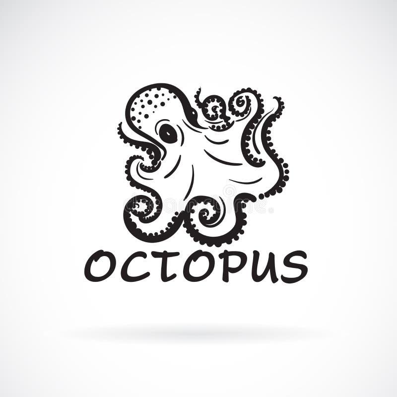 Vector van octopus schilderen het uit de vrije hand op witte achtergrond Overzees dier Gemakkelijke editable gelaagde vectorillus royalty-vrije illustratie