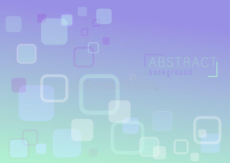 Vector van overlappings abstracte rechthoek als achtergrond royalty-vrije illustratie