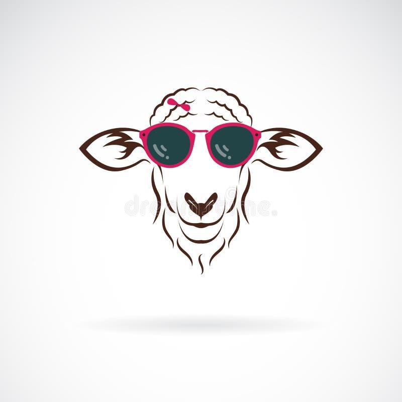 Vector van schapen die zonnebril op witte achtergrond dragen Manier Gemakkelijke editable gelaagde vectorillustratie royalty-vrije illustratie