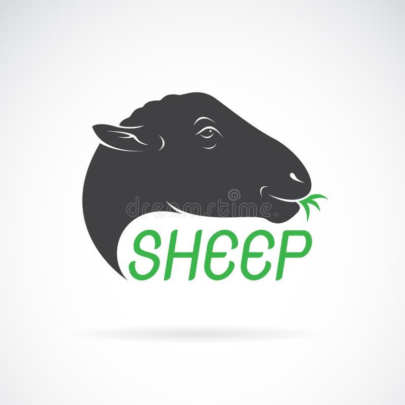 Vector van schapen hoofdontwerp op witte achtergrond Wilde dieren stock illustratie