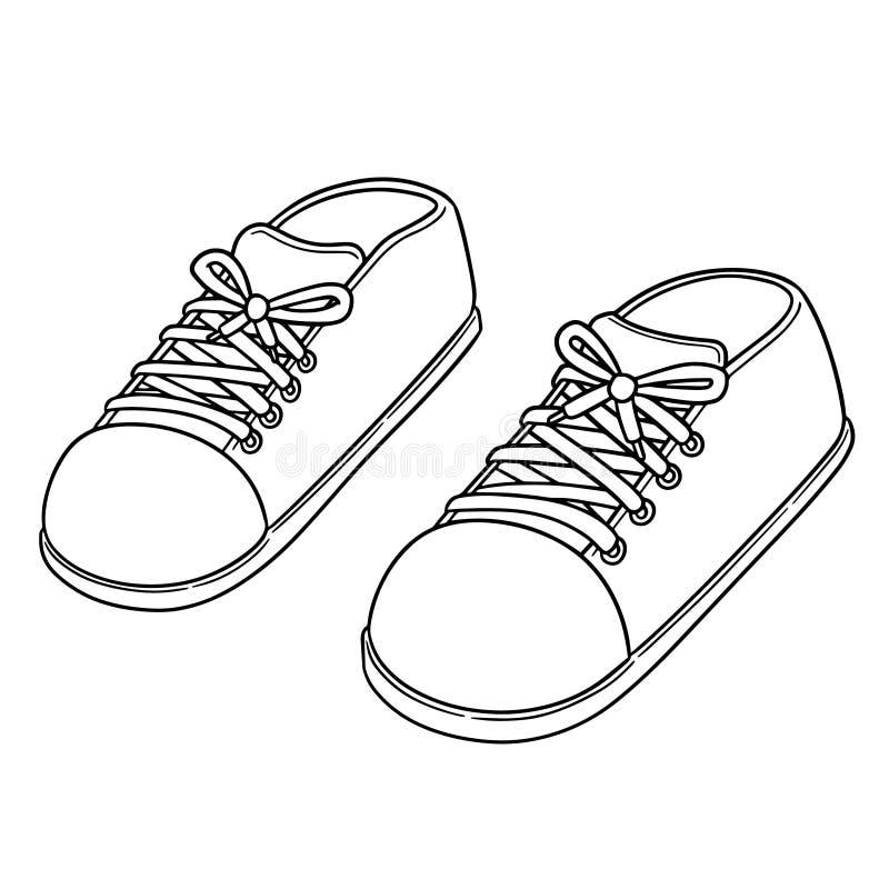 Vector van schoenen royalty-vrije illustratie