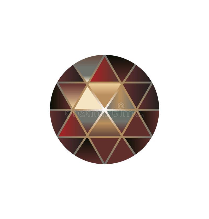 Vector van veelkleurige gemsteen om diamanten op wit vector illustratie