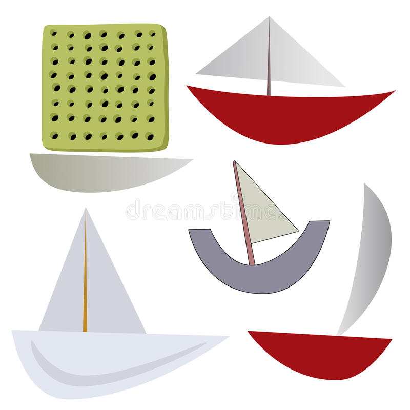 Download Vector various boats stock vector. Image of ship, doodle - 35598357