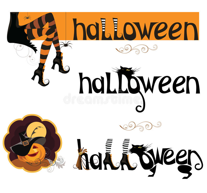 Vector vastgesteld element voor Halloween stock illustratie