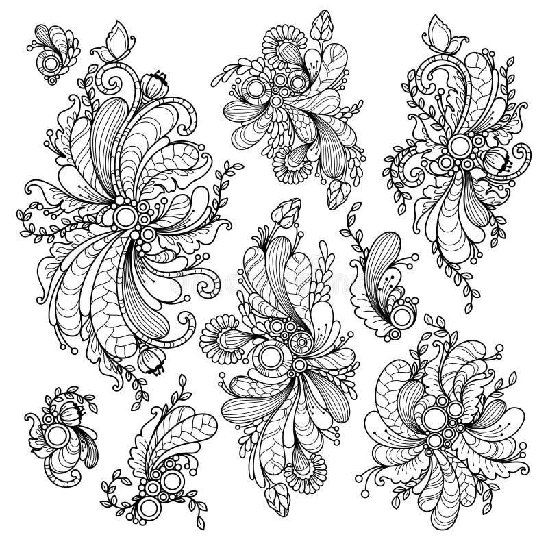 Vector vastgestelde aard abstracte elementen royalty-vrije illustratie