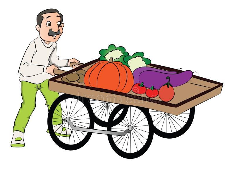 Cartoon vendor cart stock vector. Illustration of vintage ... (800 x 650 Pixel)