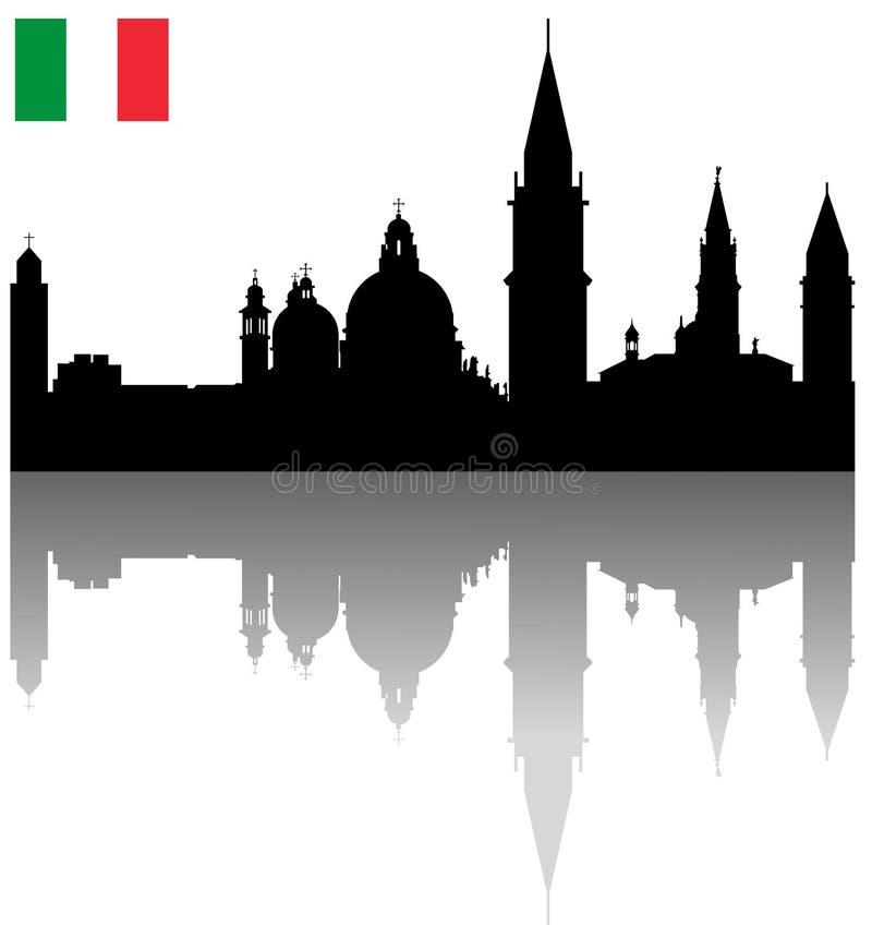 Free Vector Venice Silhouette Skyline Royalty Free Stock Image - 12451336