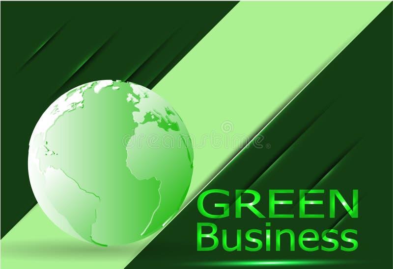 Vector verde del ambiente del fondo del negocio cubierta del cuero de +Green fotografía de archivo libre de regalías