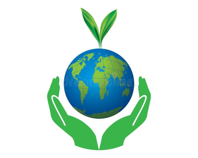 Vector verde del concepto del mundo stock de ilustración