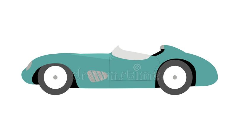 Vector verde del ejemplo del coche de carreras del vintage stock de ilustración