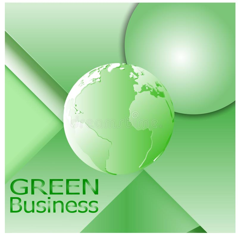 Vector verde del fondo +Ecology del negocio foto de archivo