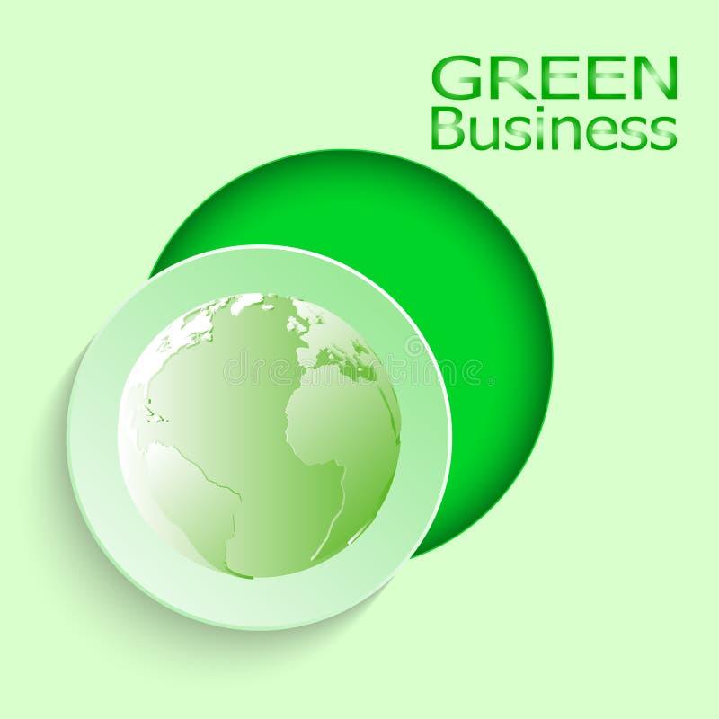 Vector verde del fondo +Environment del negocio imagen de archivo
