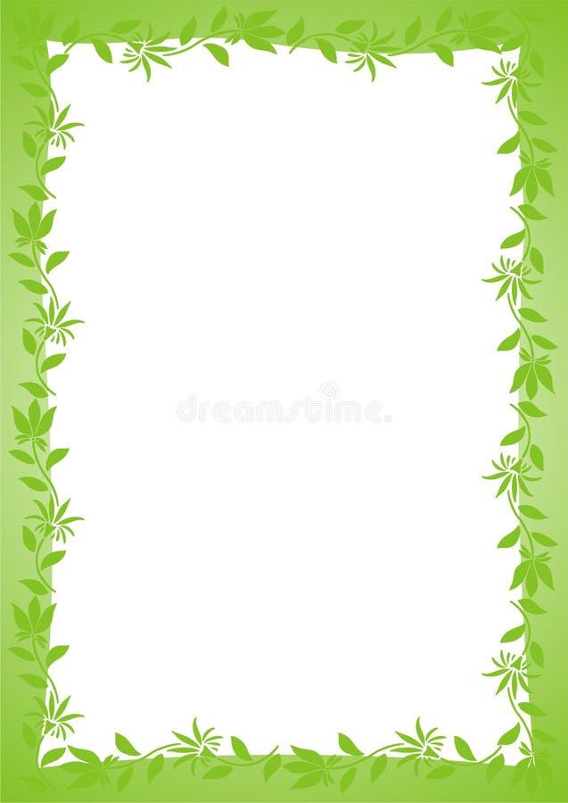 Vector Verde Del Marco Del Resorte Ilustración del Vector ...