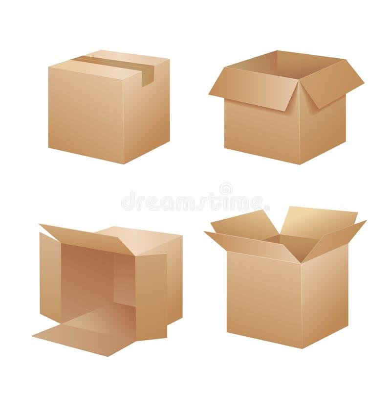 Vector verpakkingsdozen stock illustratie