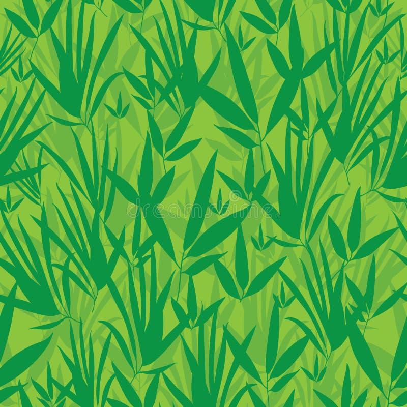 Vector Verse Groene Aziatische Naadloze het Patroonachtergrond van de bamboekimono vector illustratie