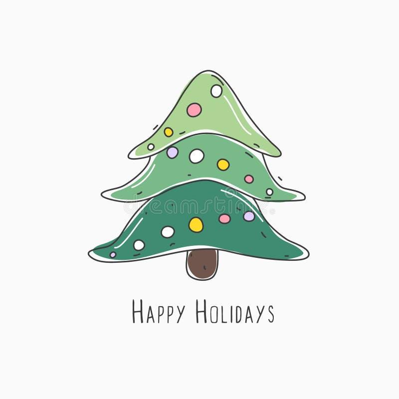 Vector versie in mijn portefeuille De vakantie van de winter Kerstmis en Nieuwjaar Feestelijke Decoratie Creatieve abstracte acht royalty-vrije illustratie
