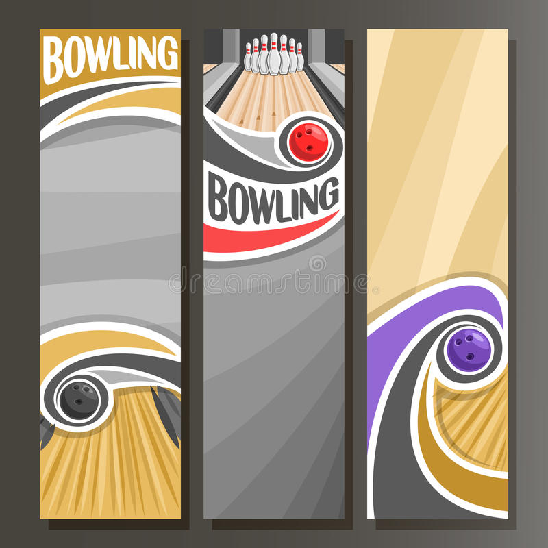 Free Vector Vertical Banners For Bowling Royalty Free Stock Photos - 88358268
