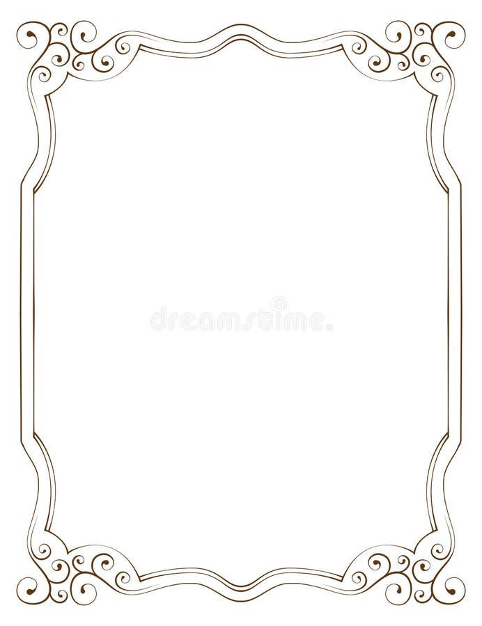 Vector vertical frame stock vector. Illustration of border - 45277182