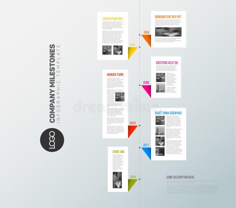 Vector vertical infographic timeline report template vector illustration