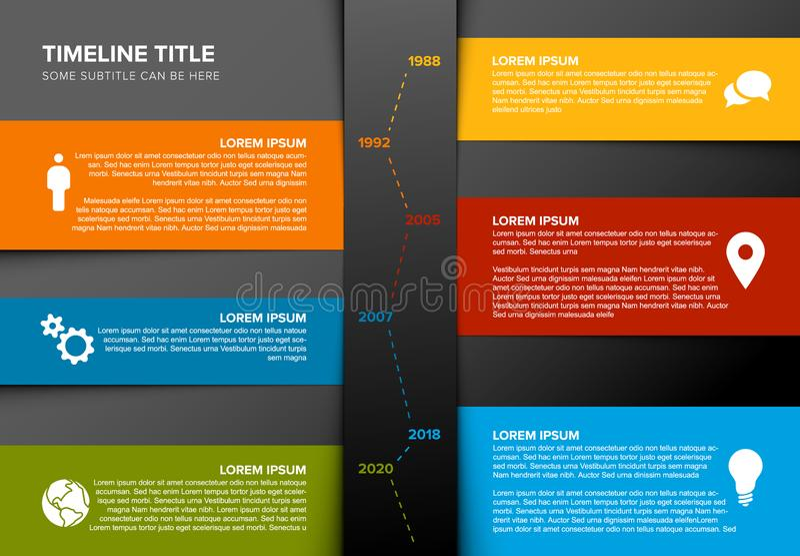 Vector vertical timeline template royalty free illustration