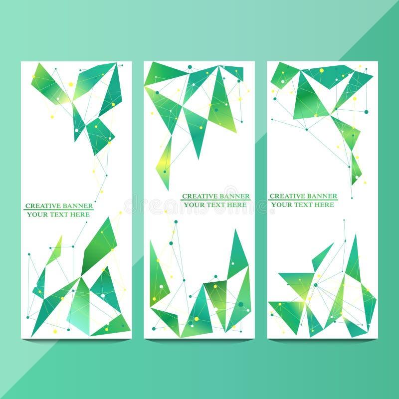 Vector verticale die banners voor uw reclame worden geplaatst vector/illustratie stock illustratie