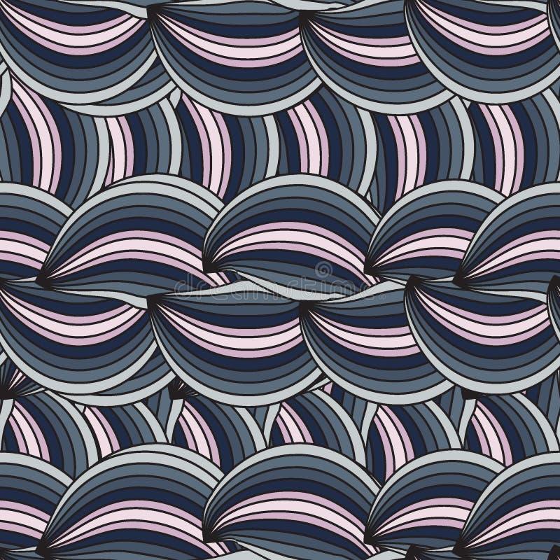 Vector verticale naadloze textuur met samenvatting wav stock illustratie
