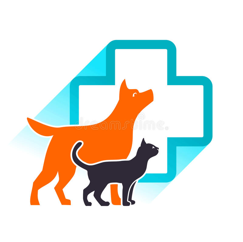 Vector veterinair embleem stock illustratie