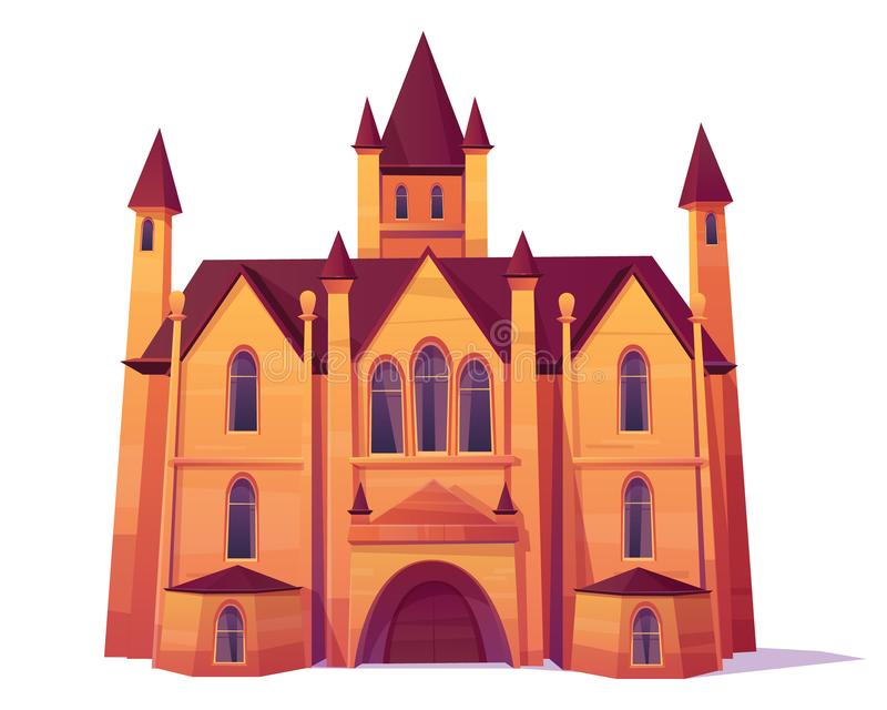 Vector victoriano de la mansión aislado en el fondo blanco stock de ilustración