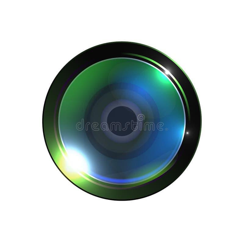 Vector video de la lente de la foto de alta calidad realista ilustración del vector