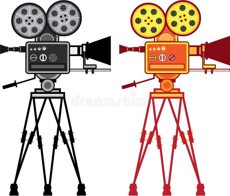 Vector video de la película de la cámara del proyector del vintage retro ilustración del vector