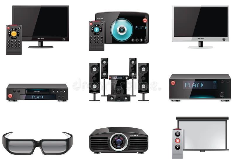 Vector videoapparatuur pictogramreeks