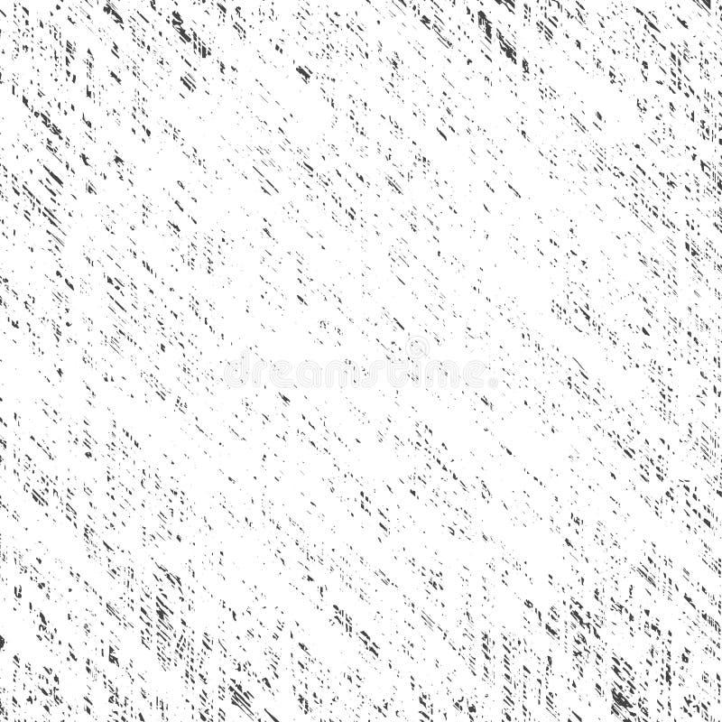 Vector vierkante gekraste abstracte grungeachtergrond van zwarte vlekken op een witte achtergrond vector illustratie
