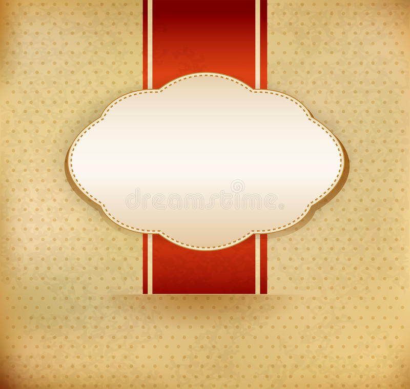 Vector vintage background with ribbon royalty free illustration