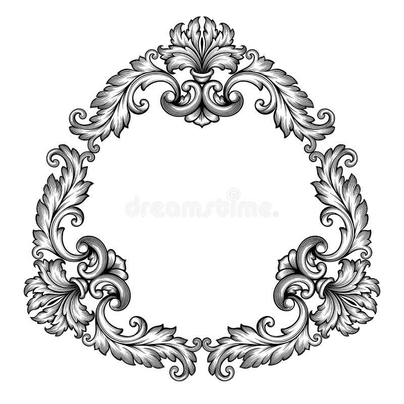 vector vintage baroque frame scroll ornate stock vector rh dreamstime com ornate victorian picture frames ornate victorian iron beds