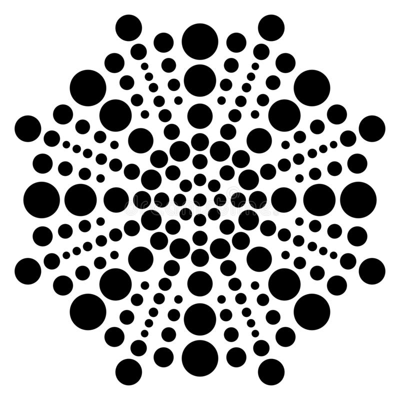 Vector vintage Beautiful Black and white Mandala Illustration. vector illustration