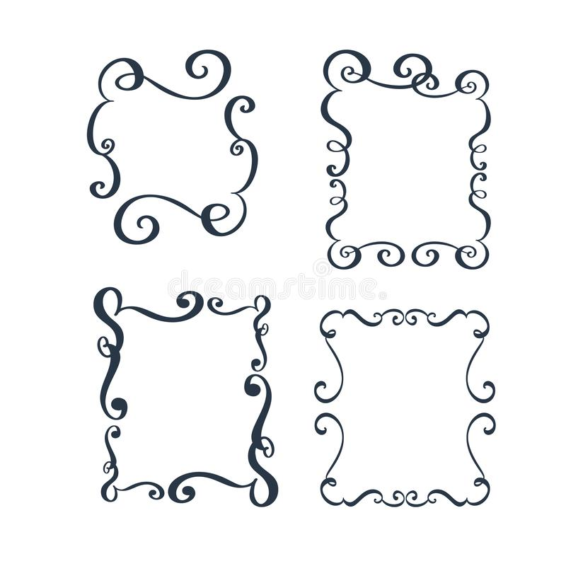 Vector vintage border frame engraving with retro ornament pattern in antique rococo style decorative design vector illustration