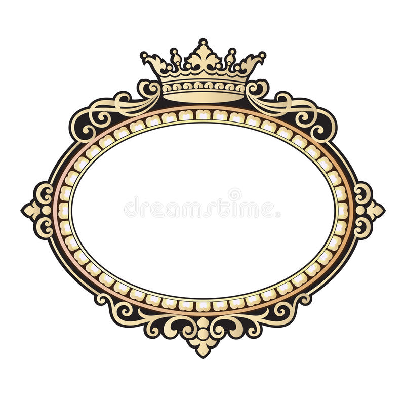 Vector Vintage Border Frame Engraving With Retro Ornament Vector ...