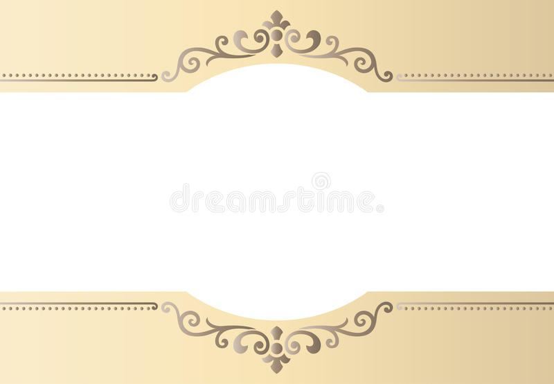 Vector vintage border frame engraving with retro ornament Vector. Vector vintage border frame engraving with retro ornament pattern in antique rococo style vector illustration