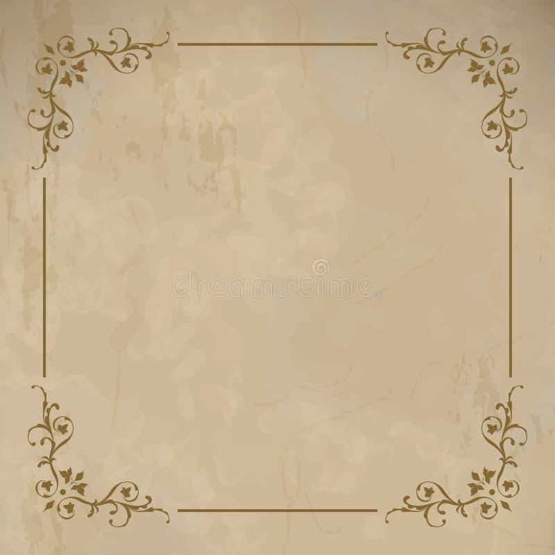 Vector vintage border frame royalty free illustration