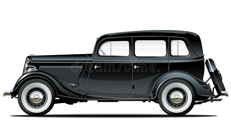 Vector vintage car royalty free stock images