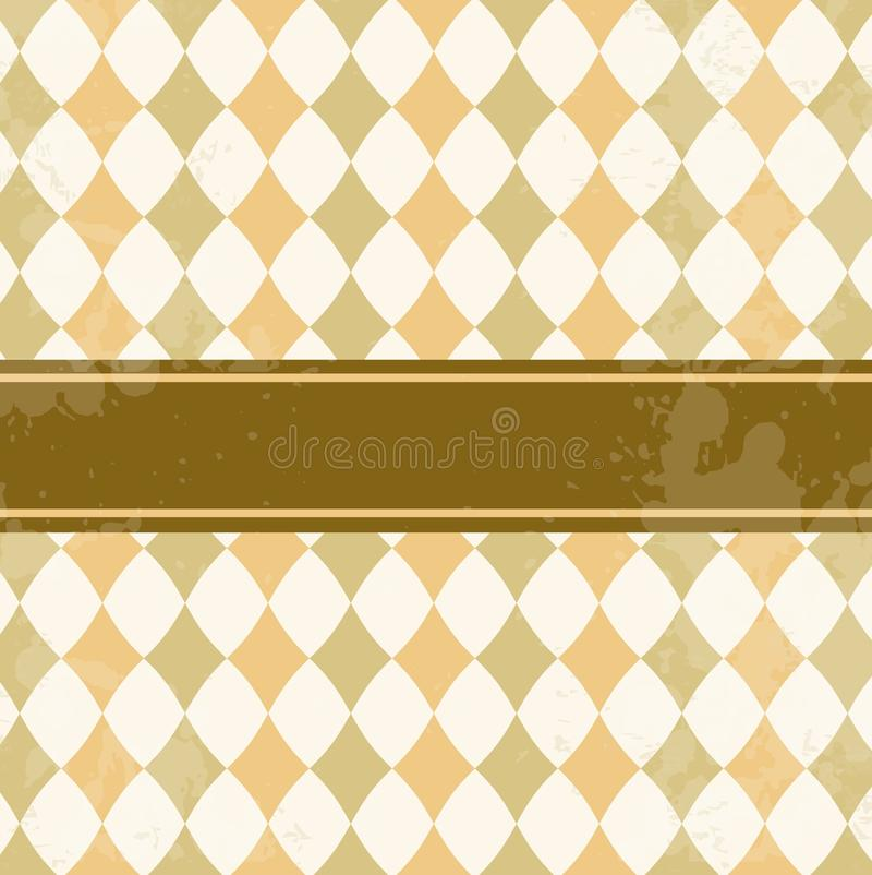 Download Vector Vintage Card With Rhombuses Stock Photo - Image: 15915600