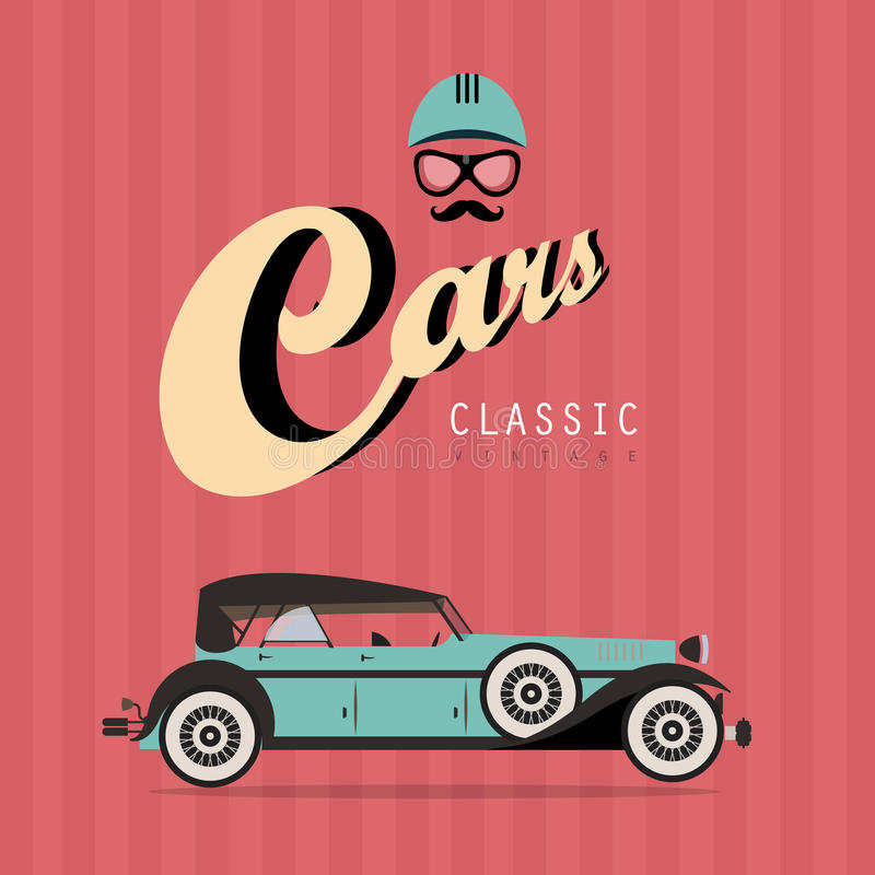 Download Vector vintage classic car stock vector. Image of card - 26506496