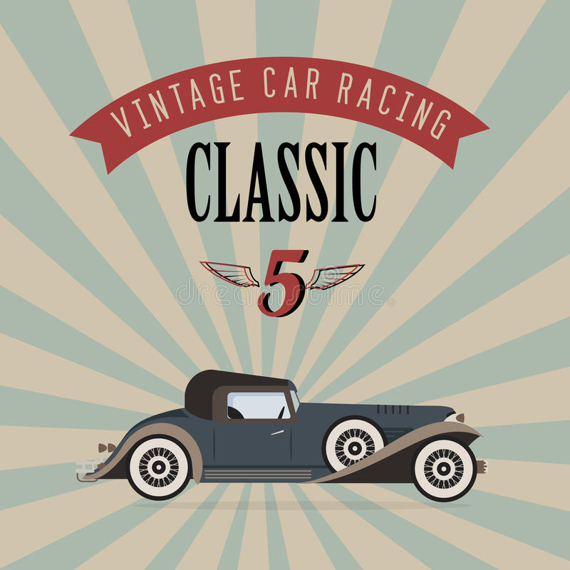 Download Vector vintage classic car stock vector. Illustration of power - 26506502