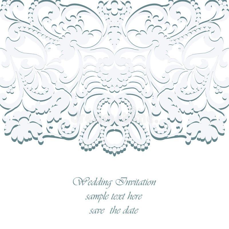 Vector Vintage Classic Wedding Invitation Card Stock Vector ...