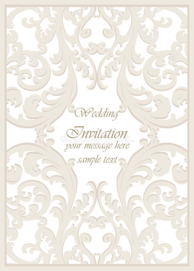 Vector Vintage Classic Wedding Invitation Card Stock Vector