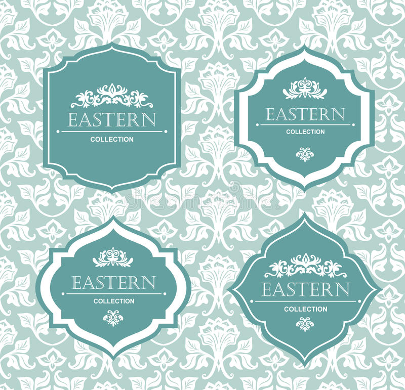 Vector vintage collection: Baroque and antique frames, labels, emblems and ornamental design elements. vector illustration