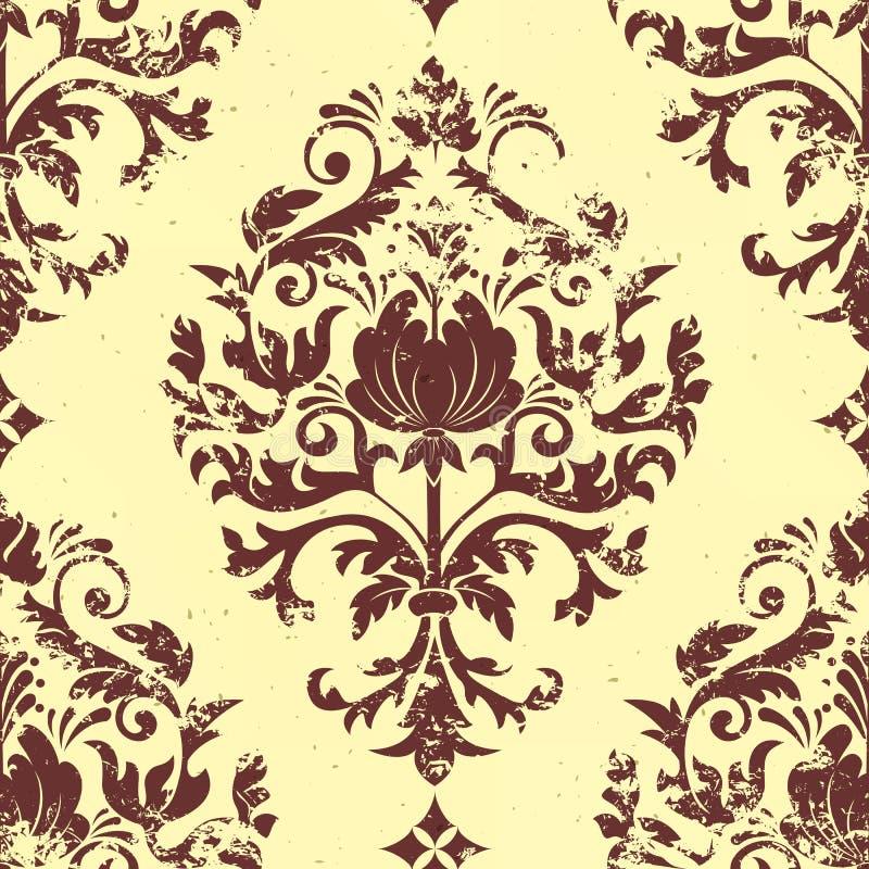 Vector vintage damask seamless pattern element. stock photos