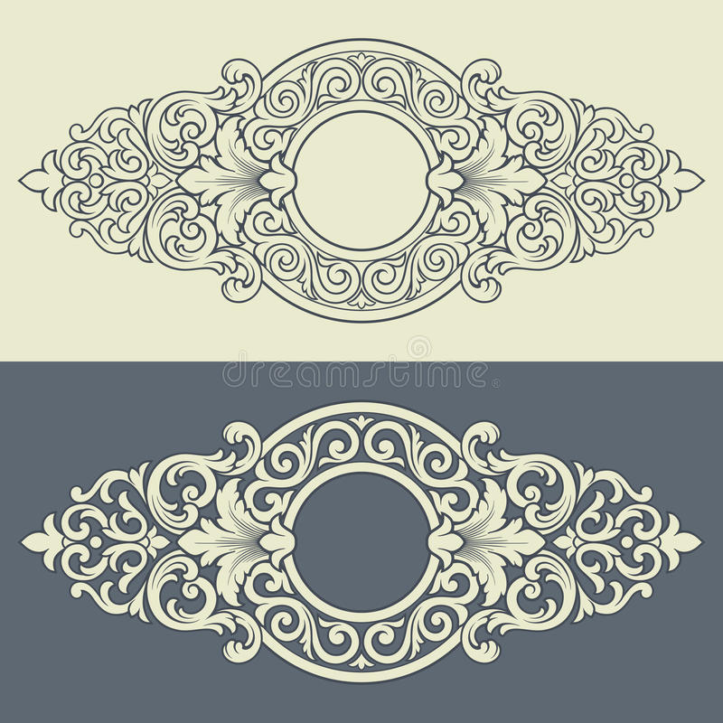 Free Vector Vintage Decorative Frame Pattern Design Royalty Free Stock Photos - 24600768