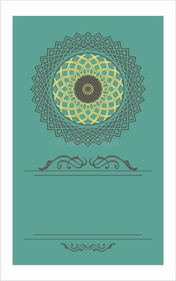 Vector vintage decorative frame pattern design stock illustration